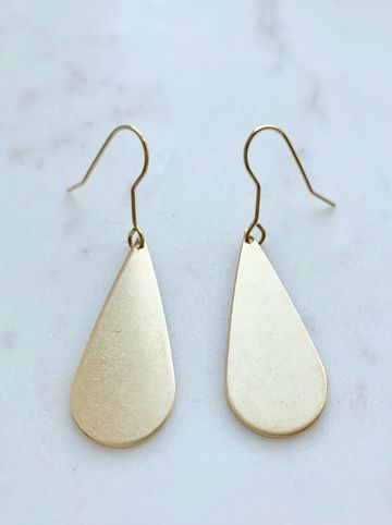 Big drop earrings