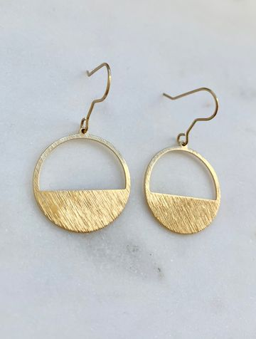 Brushed sunrise earrings
