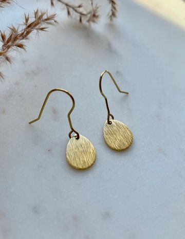Small brushed earrings