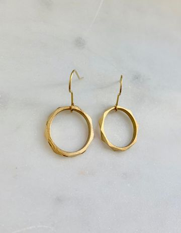 Small octagon earrings