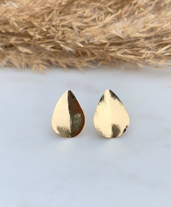 Full drop stud earrings