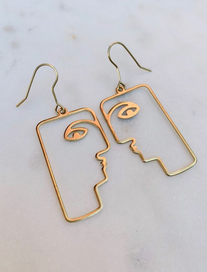 Friendly faces earrings