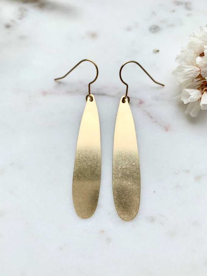 Long drop earrings